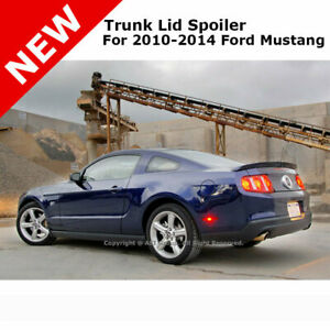 For Ford Mustang Gt 10 14 Cobra Trunk Rear Spoiler Painted Race Red Pq