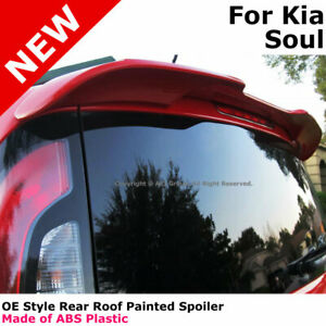For 14 Kia Soul Color Matched Painted Rear Trunk Spoiler Bright Silver 3d