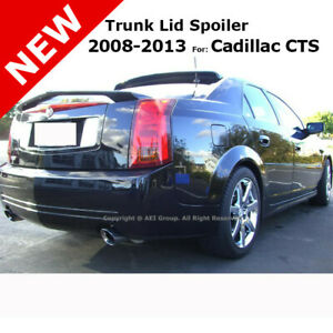 For Cadillac Cts 08 13 Trunk Rear Spoiler Color Matched Painted Black Wa8555