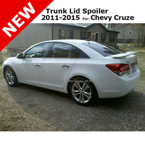 Chevy Cruze 4dr 2011 Trunk Spoiler Rear Painted Silver Ice Metallic Wa636r