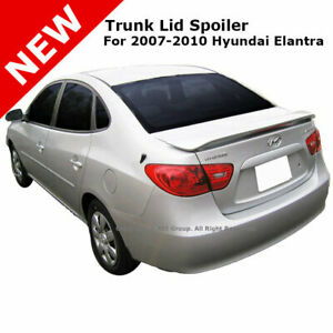 Abs Trunk Spoiler Rear For Hyundai Elantra 07 10 Painted Clear Captiva White 7f
