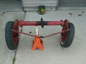 Farmall Cub Front Axle Complete With Tie Rods Spindles And Hubs Rims Tires