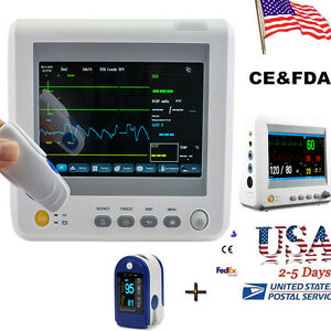 Us Vital Signs Patient Monitor 6 Parameter Ecg Nibp Pulse Oximeter Doctor Exam