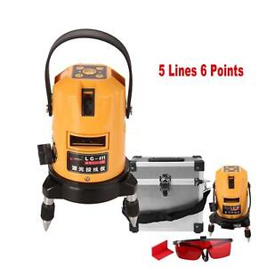 Automatic Self Leveling Vertical Horizontal 5 Lines 6 Points Laser Level Meter