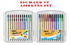 Bic Mark it Permanent Markers Fine Point Ultra Fine Point Assorted Colors 36 set