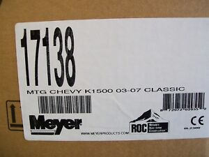 Meyer 17138 Oem Classic Snow Plow Mount Fits Chevy K1500 1999 2010