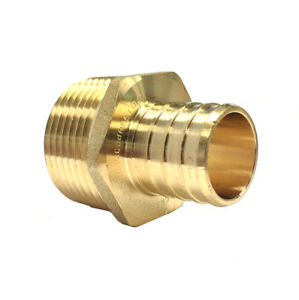 Libra Supply 1 Inch 1 Lead Free Pex Copper Male Adapter Barb X Mip 10 Pcs