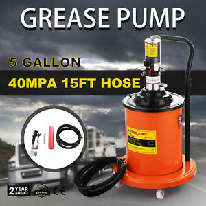 Air Operated High pressure Grease Pump 15ft Hose Gun Booster Motor Pail Hot