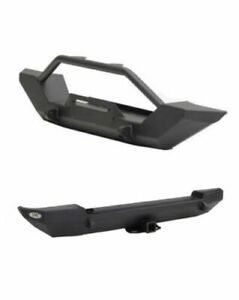 Smittybilt Xrc Front W Winch Plate Rear Bumpers Kit For 97 06 Jeep Wrangler Tj