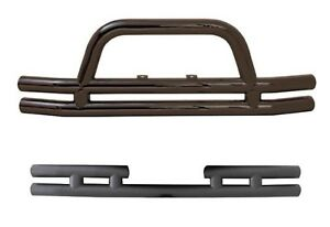 Smittybilt Black Gloss Rear Front W Hoop Tubular Bumpers Kit For Jeep Wrangler