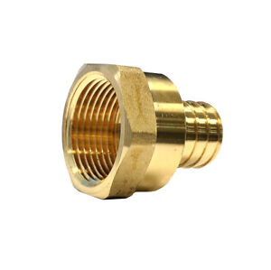 Libra Supply 1 Inch 1 Pex Copper Brass Female Adapter Barb X Fip 10 Pcs