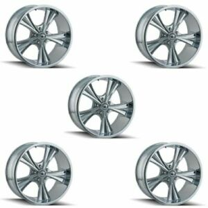 Ridler 651 2173c Set Of 5 Style 651 20x10 5x127mm 0 Offset Chrome Rims