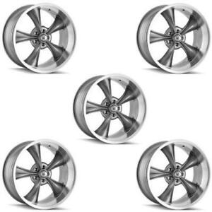 Ridler 695 7773g Set Of 5 Style 695 17x7 5x127mm 0 Offset Grey Rims