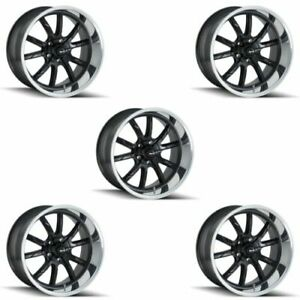 Ridler 650 8965mb Set Of 5 Style 650 18x9 5 5x114 3mm 0 Offset Matte Black Rims
