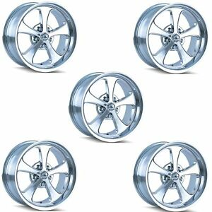 Ridler 645 8873c Set Of 5 Style 645 18x8 5x127mm 0 Offset Chrome Rims