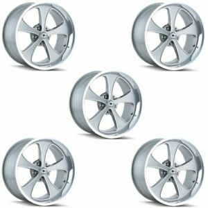 Ridler 645 8873gp Set Of 5 Style 645 18x8 5x127mm 0 Offset Grey Ri