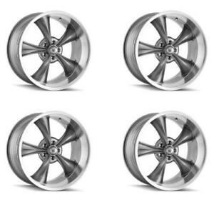 Ridler 695 7765g Set Of 4 Style 695 17x7 5x114 3mm 0 Offset Grey Rims
