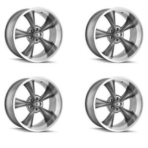 Ridler 695 7761g Set Of 4 Style 695 17x7 5x120 65mm 0 Offset Grey Rims