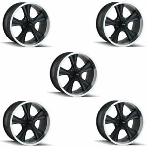 Ridler 651 8865mb Set Of 5 Style 651 18x8 5x114 3mm 0 Offset Matte Black Rims