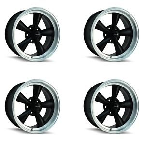 Ridler 675 7961mb Set Of 4 Style 675 17x9 5 5x120 65mm 5 Offset Black Rims