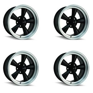 Ridler 675 7761mb Set Of 4 Style 675 17x7 5x120 65mm 0 Offset Matte Black Rims