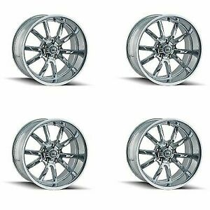Ridler 650 5873c Set Of 4 Style 650 15x8 5x127mm 0 Offset Chrome Rims