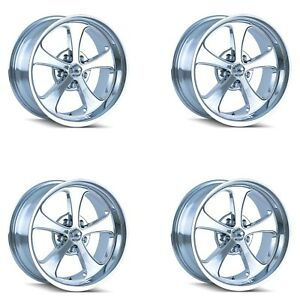 Ridler 645 8873c Set Of 4 Style 645 18x8 5x127mm 0 Offset Chrome Rims
