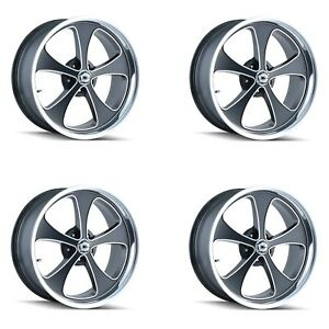 Ridler 645 8873mbp Set Of 4 Style 645 18x8 5x127mm 0 Offset Matte Black Rims