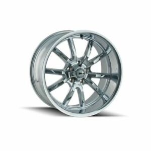 Ridler 650 5861c Single Style 650 15x8 5x120 65mm 0 Offset Chrome Rim