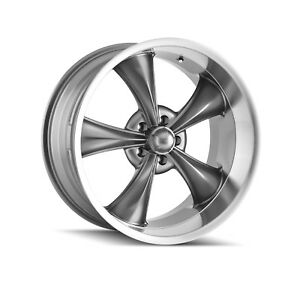 Ridler 695 2161g Single Style 695 20x10 5x120 65mm 0 Offset Grey Rim