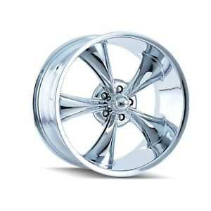 Ridler 695 8861c Single Style 695 18x8 5x120 65mm 0 Offset Chrome Rim