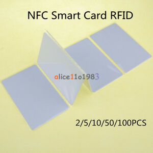 2 5 10 50pcs Nfc Smart Card Tags 1k S50 Ic 13 56mhz Read Write Rfid For Arduino