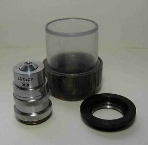 Lomo Apochromat 40x 0 95 Objective Correcting Ring Microscope Zeiss Adapter
