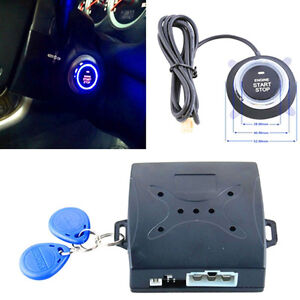 12v Keyless Entry Car Engine Push Start Button Rfid Lock Ignition Starter Alarm