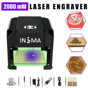 Real 2000mw Usb Laser Engraver Diy Logo Mark Printer Cutter Carver Machine Us