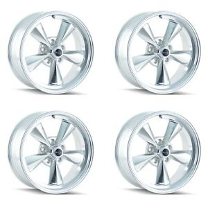 Ridler 675 5761p 675 5861p Set Of 4 Style 675 15x7 15x8 5x120 65 Polished Rims