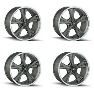 Ridler 651 2873g 651 2173g Set Of 4 Style 651 20x8 5 20x10 5x127 Grey Rims