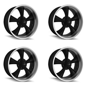 Ridler 695 7765mb 695 7865mb Set Of 4 Style 695 17x7 17x8 5x114 3 Black Rims