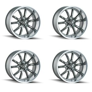 Ridler 650 2812g30 650 2112g38 Set Of 4 Style 650 20x8 5 20x10 5x120 Grey Rims