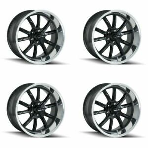 Ridler 650 8865mb 650 8965mb Set Of 4 Style 650 18x8 18x9 5 5x114 3 Black Rims