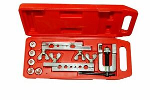 14pc Flaring Tool Kit Brake Gas Water Line Tubing Swaging Automotive Plumbing