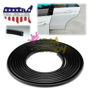180 Long Black Car Door Edge Guard Molding Trim Diy Protectors Strip 15ft
