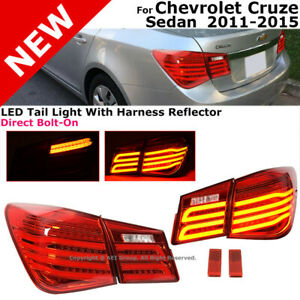 Chevrolet Cruze 2011 2015 Mb Style Rear Led Tail Lights Lamps Assembly 4dr Sedan