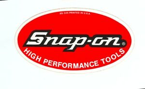 New Vintage Snap On Tools Tool Box Cabinet Sticker Emblem Racing Decal Ss557a