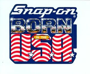 new Vintage Snap on Tools Tool Box Sticker Usa Decal Man Cave Garage Ssx1433