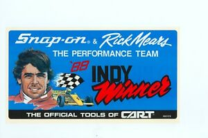 New Vintage Snap On Tools Rick Mears Indy Tool Box Sticker Racing Decal Ssx1276
