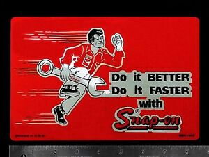 New Vintage Snap On Tools Snap On Tool Box Sticker Decal Man Cave Old 60 Sssx543
