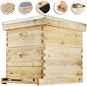 20 frame Langstroth Bee Hive Complete Box Kit Free Shipping