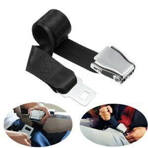 Adjustable Aircraft Airplane Safe Seat Belt Extension Extender Buckle Universal