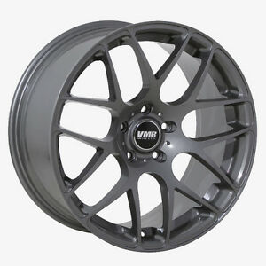 18x8 5 Vmr Rims V710 5x112 Et35 Gunmetal Wheels set Of 4